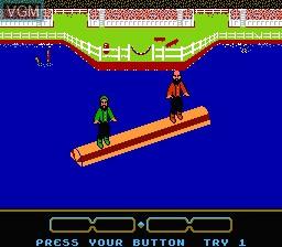 Image in-game du jeu World Games sur Nintendo NES