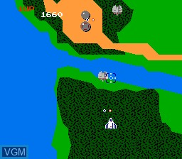 Image in-game du jeu Xevious - The Avenger sur Nintendo NES