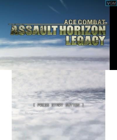 Image de l'ecran titre du jeu Ace Combat - Assault Horizon Legacy sur Nintendo 3DS