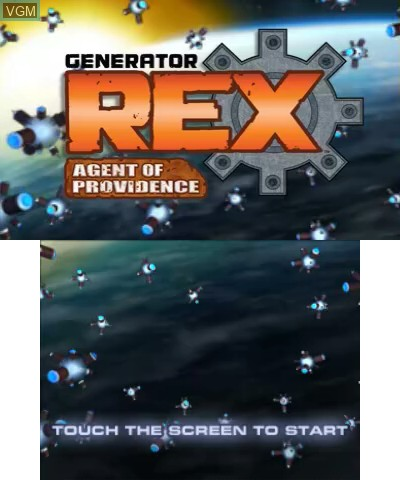 Image de l'ecran titre du jeu Generator Rex - Agent of Providence sur Nintendo 3DS