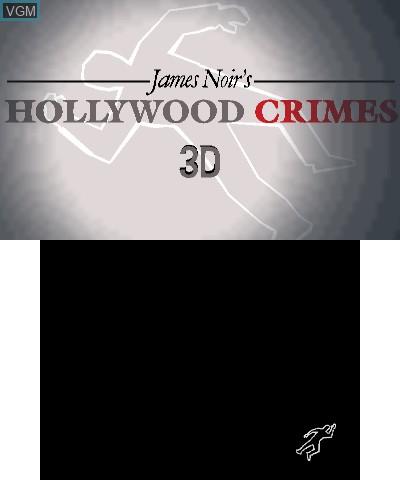 Image de l'ecran titre du jeu James Noir's Hollywood Crimes 3D sur Nintendo 3DS