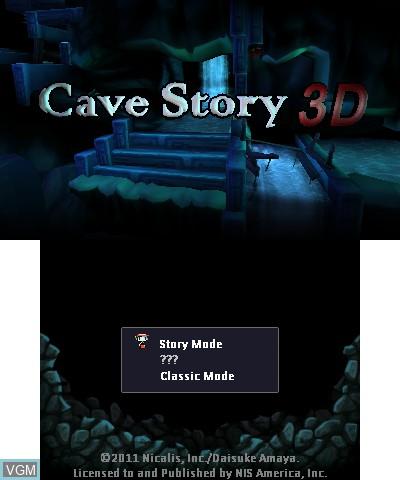 Image de l'ecran titre du jeu Cave Story 3D sur Nintendo 3DS