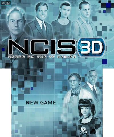 Image de l'ecran titre du jeu NCIS 3D sur Nintendo 3DS