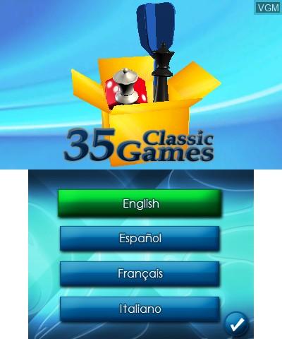 Image de l'ecran titre du jeu 35 Junior Games sur Nintendo 3DS