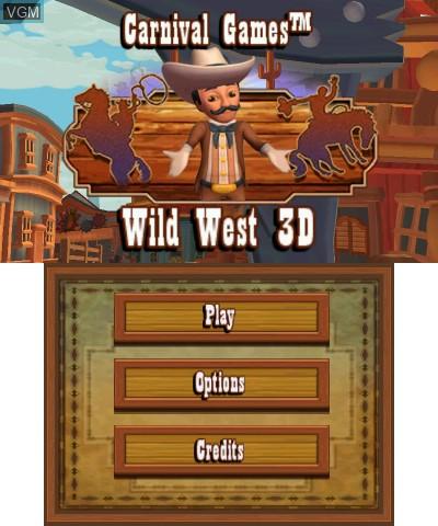 Image de l'ecran titre du jeu Carnival Games - Wild West 3D sur Nintendo 3DS