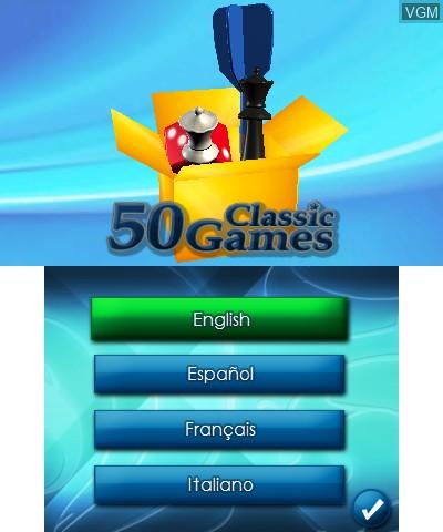 Image de l'ecran titre du jeu 50 Classic Games sur Nintendo 3DS