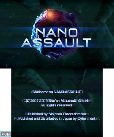 Image de l'ecran titre du jeu Nano Assault sur Nintendo 3DS