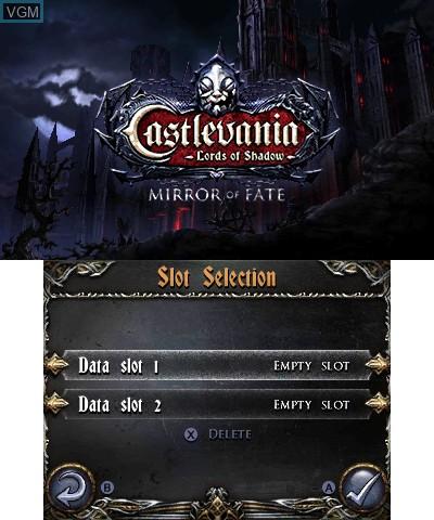 Image de l'ecran titre du jeu Castlevania - Lords of Shadow - Mirror of Fate sur Nintendo 3DS