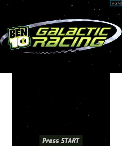 Image de l'ecran titre du jeu Ben 10 - Galactic Racing sur Nintendo 3DS