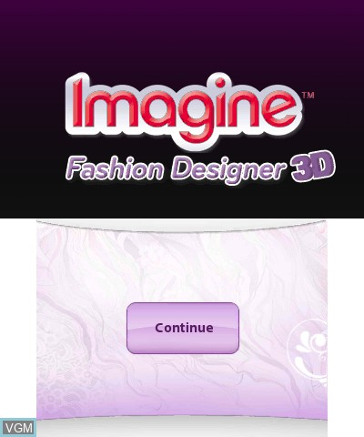 Image de l'ecran titre du jeu Imagine Fashion Designer 3D sur Nintendo 3DS