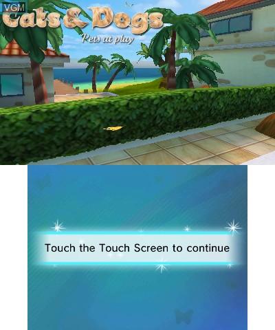 Image de l'ecran titre du jeu Cats & Dogs - Pets at Play sur Nintendo 3DS