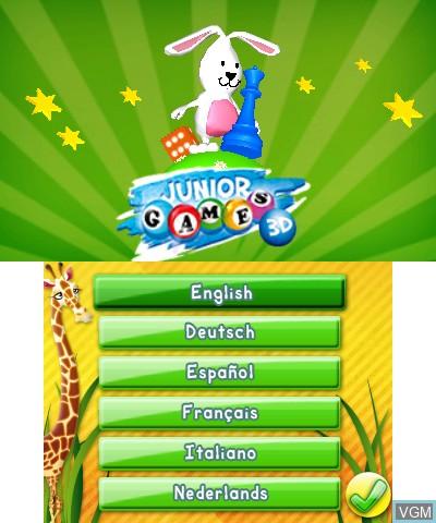 Image de l'ecran titre du jeu Junior Games 3D sur Nintendo 3DS
