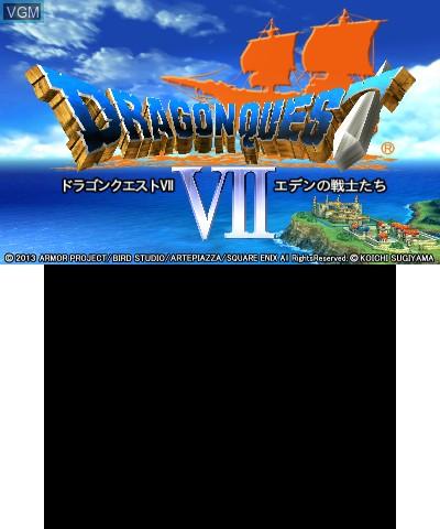Image de l'ecran titre du jeu Dragon Quest VII - Eden no Senshitachi sur Nintendo 3DS