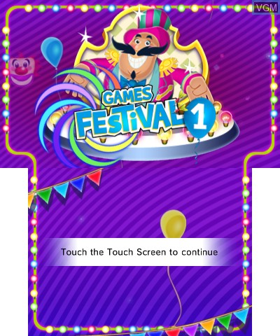 Image de l'ecran titre du jeu Games Festival 1 sur Nintendo 3DS