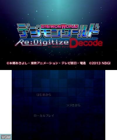 Fiche du jeu Digimon World Re:Digitize Decode sur Nintendo