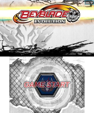 Image de l'ecran titre du jeu Beyblade - Evolution sur Nintendo 3DS