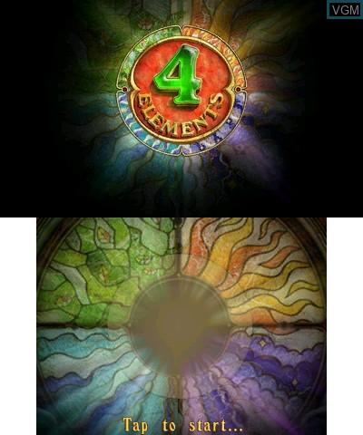 Image de l'ecran titre du jeu 4 Elements sur Nintendo 3DS