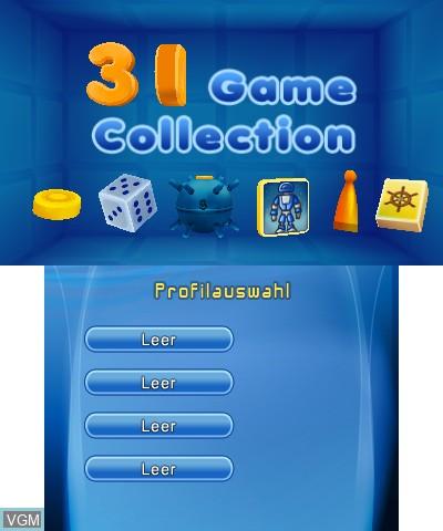 Image de l'ecran titre du jeu 3D Game Collection sur Nintendo 3DS