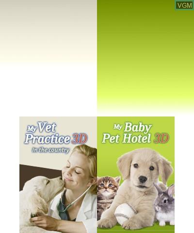 Image de l'ecran titre du jeu 2 in 1 - My Vet Practice 3D and My Baby Pet Hotel 3D sur Nintendo 3DS