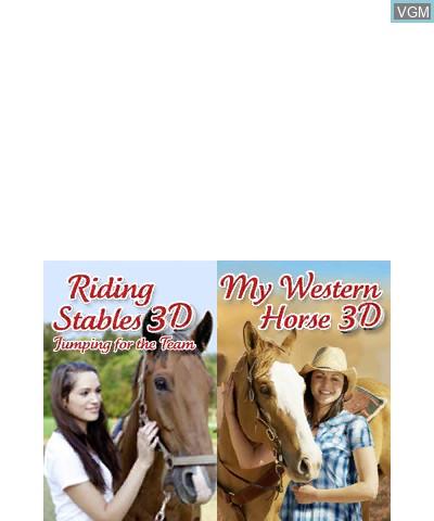 Image de l'ecran titre du jeu 2 in 1- Horses 3D Vol.3 - My Riding Stables 3D - Jumping for the Team and My Western Horse 3D sur Nintendo 3DS