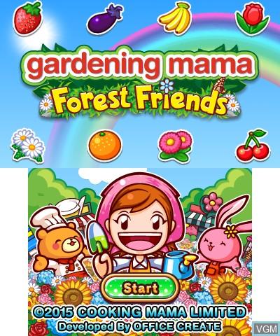 Image de l'ecran titre du jeu Gardening Mama - Forest Friends sur Nintendo 3DS