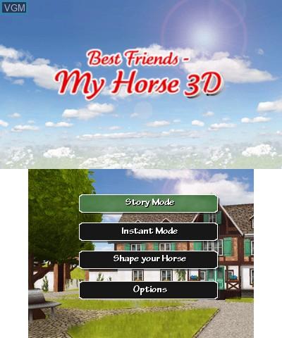 Image de l'ecran titre du jeu Best Friends My Horse 3D sur Nintendo 3DS
