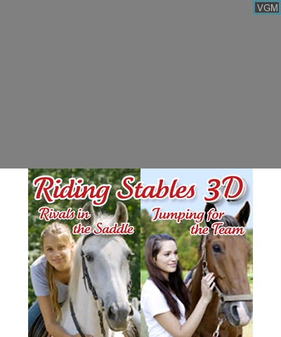 Image de l'ecran titre du jeu 2 in 1 - Horses 3D Vol.2 - Rivals in the Saddle and Jumping for the Team 3D sur Nintendo 3DS