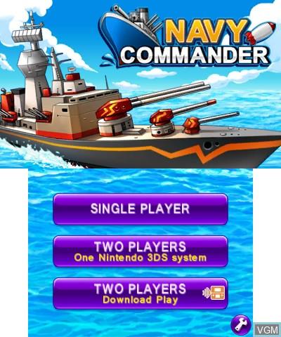 Image de l'ecran titre du jeu Navy Commander sur Nintendo 3DS