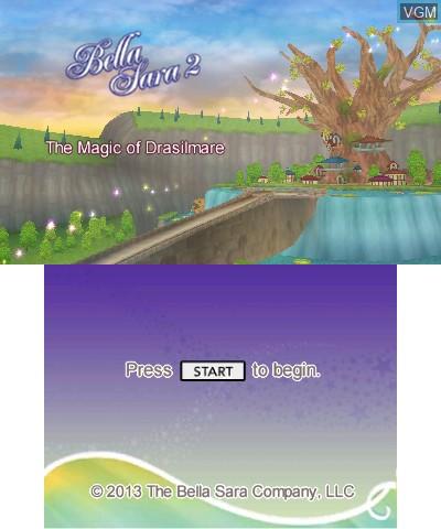 Image de l'ecran titre du jeu Bella Sara 2 sur Nintendo 3DS