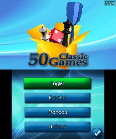 Image de l'ecran titre du jeu 50 Classic Games 3D sur Nintendo 3DS