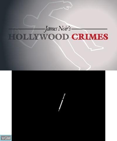 Image de l'ecran titre du jeu James Noir's Hollywood Crimes sur Nintendo 3DS
