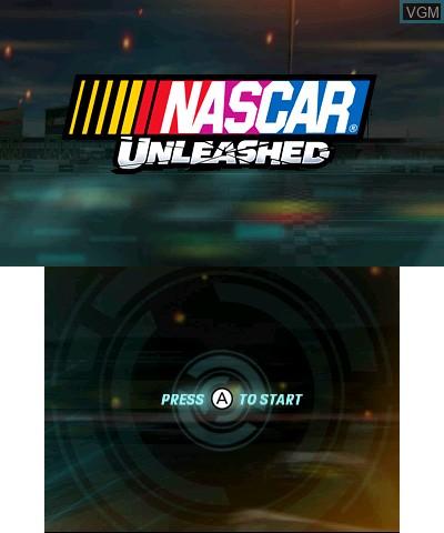 Image de l'ecran titre du jeu NASCAR Unleashed sur Nintendo 3DS