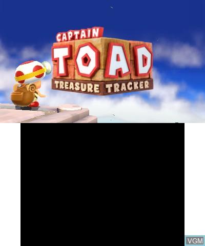 Image de l'ecran titre du jeu Captain Toad - Treasure Tracker sur Nintendo 3DS