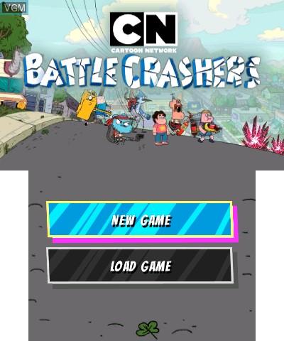 Image de l'ecran titre du jeu Cartoon Network - Battle Crashers sur Nintendo 3DS