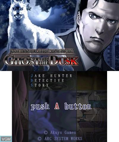 Image de l'ecran titre du jeu Jake Hunter Detective Story - Ghost of The Dusk sur Nintendo 3DS