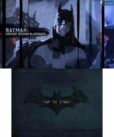 Image de l'ecran titre du jeu Batman - Arkham Origins Blackgate sur Nintendo 3DS