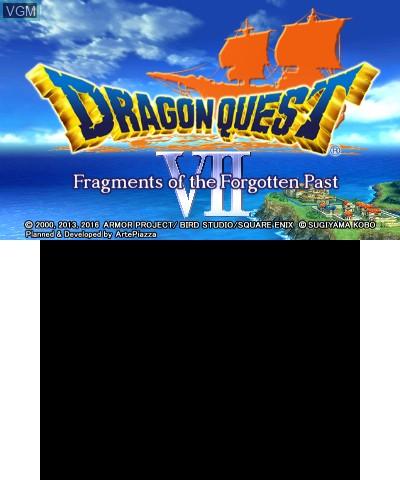 Image de l'ecran titre du jeu Dragon Quest VII - Fragments of the Forgotten Past sur Nintendo 3DS
