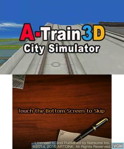 Image de l'ecran titre du jeu A-Train 3D - City Simulator sur Nintendo 3DS