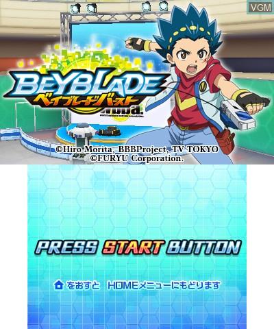 Image de l'ecran titre du jeu Beyblade Burst sur Nintendo 3DS