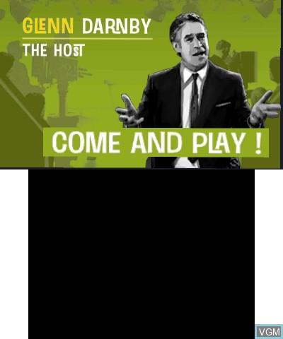 Image du menu du jeu James Noir's Hollywood Crimes 3D sur Nintendo 3DS