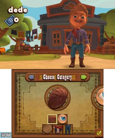 Image du menu du jeu Carnival Games - Wild West 3D sur Nintendo 3DS