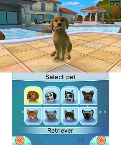 Image du menu du jeu Cats & Dogs - Pets at Play sur Nintendo 3DS
