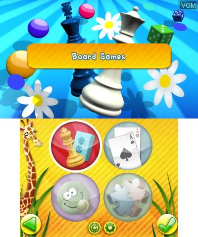 Image du menu du jeu Junior Games 3D sur Nintendo 3DS
