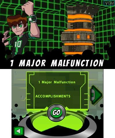 Image du menu du jeu Ben 10 - Omniverse sur Nintendo 3DS