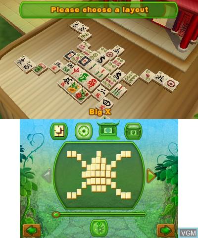 Image du menu du jeu 3D MahJongg sur Nintendo 3DS