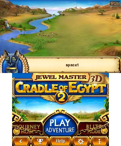 Image du menu du jeu Jewel Master - Cradle of Egypt 2 3D sur Nintendo 3DS