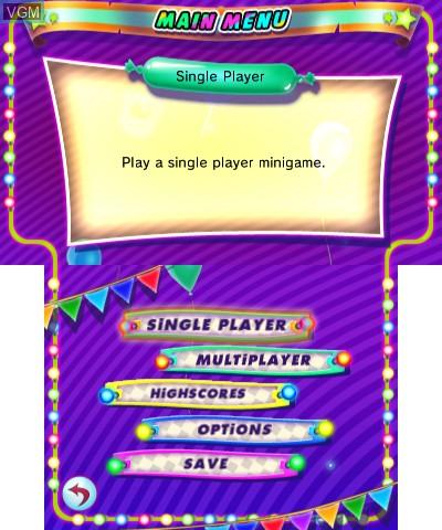 Image du menu du jeu Games Festival 1 sur Nintendo 3DS