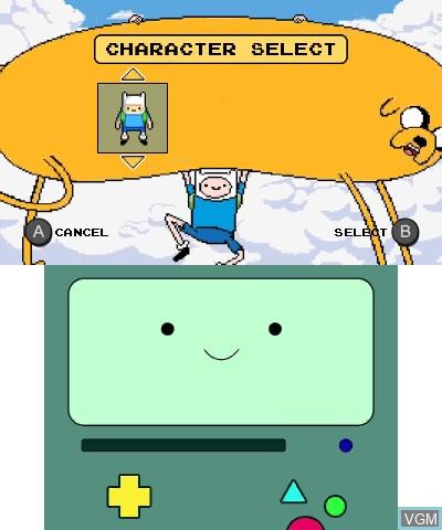 Image du menu du jeu Adventure Time - Explore the Dungeon Because I DON'T KNOW! sur Nintendo 3DS