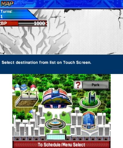 Image du menu du jeu Beyblade - Evolution sur Nintendo 3DS
