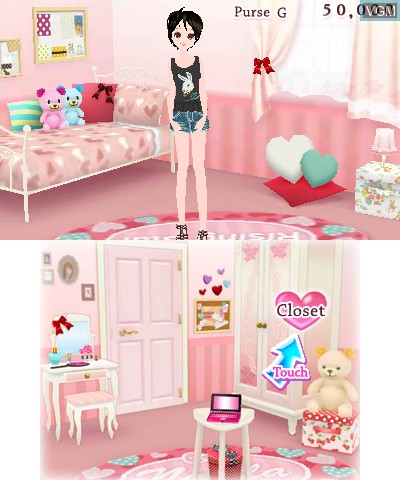 Image du menu du jeu Girls' Fashion Shoot sur Nintendo 3DS